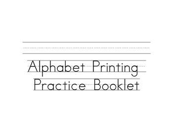 Alphabet Practice Booklet