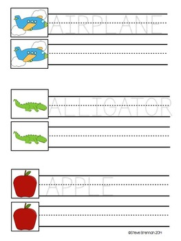 Alphabet Practice Booklet for Beginning Writers