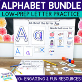 Alphabet Practice Bundle with Centers and Handwriting Pages