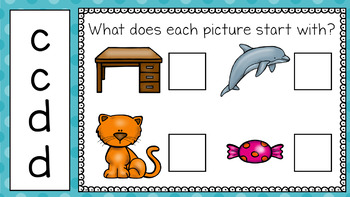 Alphabet Practice: C and D (For PowerPoint and Google Classroom)