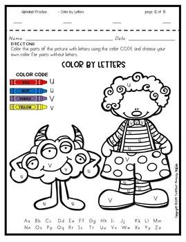 Alphabet Practice - Color by Letters