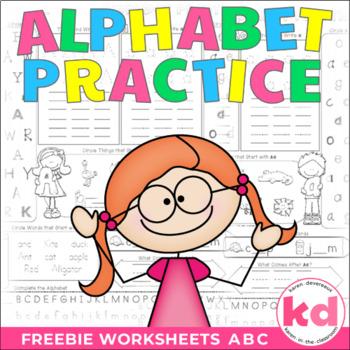 Alphabet Practice Worksheets FREEBIE