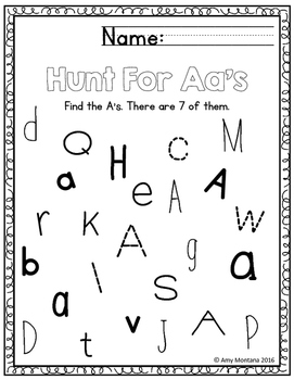 Alphabet Activity {Hunt for the Letters!}