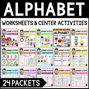 Alphabet Centers and Alphabet Activities | Beginning Sound Worksheets