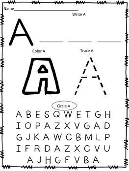 Alphabet Practice Independent Word Work