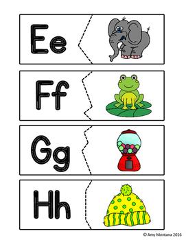 Alphabet Activity {Initial Sound Puzzles}