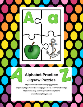 Alphabet Practice-Jigsaw Puzzles-From A to Z