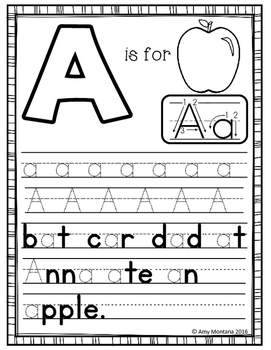Alphabet Activity {Letter Writing!}