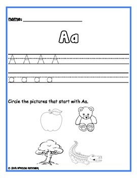 Alphabet Practice- Letter Writing and Sounds