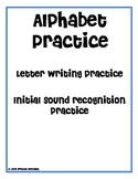 A-Z Letter Writing and Initial Sound Worksheets