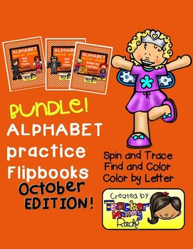 Alphabet Practice: October - Spin, Trace, Find, Color, Color by Letters (Bundle)