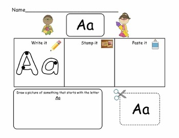 English Alphabet Practice Pack A-Z