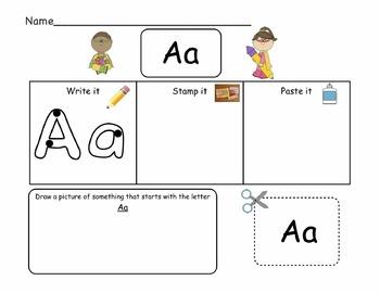 English Alphabet Practice Pack A-Z
