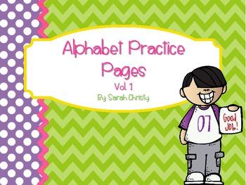 Alphabet Practice Pages A-Z