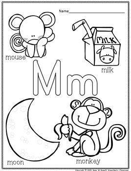 Alphabet Practice Pages A-Z: Coloring