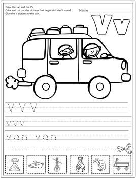 Alphabet Practice Pages A-Z: Cut & Paste