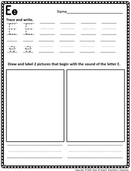 Alphabet Practice Pages A-Z: Trace, Draw & Write