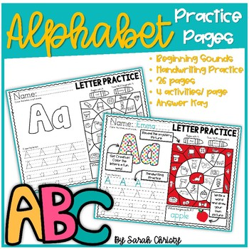 Alphabet Practice Pages A-Z Vol. 3