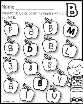 Alphabet Practice Pages - A to Z - Apples