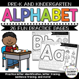 Alphabet Practice Pages - Letter Recognition for Pre-K and