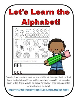 Alphabet Practice Pages - Letters and Sounds
