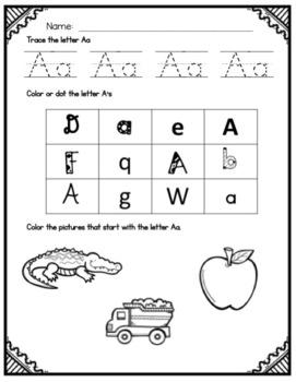 Alphabet Practice Pages - No Prep