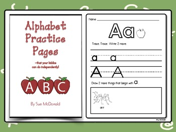 Alphabet Practice Pages - That your kiddos can do independently!
