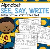 Alphabet See Say Write - No Prep Practice Printables