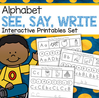 Alphabet Practice Printables  - Recognition, Sounds, Traci