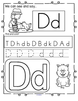 FARM Alphabet Practice Printables - Recognition, Tracing and Beginning Sounds
