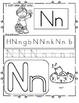 SPRING Theme Alphabet Practice Printables