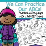 WINTER Alphabet Practice Printables - Recognition, Tracing