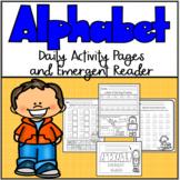 Alphabet Practice Printables with Bonus Alphabet Emergent Reader!