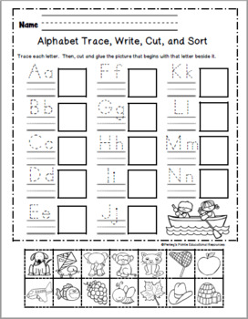 Alphabet Daily Activity Pages and Emergent Reader