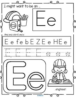 Alphabet Practice Printables with a Community Helpers Theme