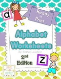 Alphabet Practice Sheets 2nd Edition