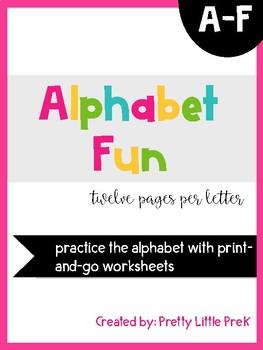 Alphabet Practice Sheets A-F