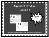 Alphabet Practice Sheets A-Z or Beginners Writing Journal