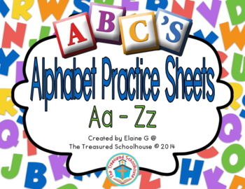 Alphabet ABC Practice Sheets Aa-Zz