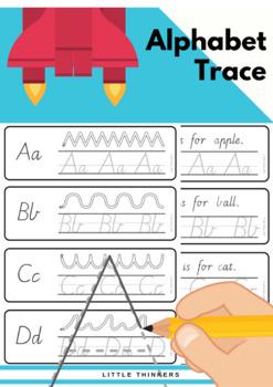 Alphabet Practice Strips - Victorian Modern Cursive