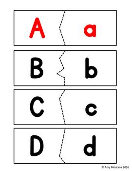 Alphabet Activity {Uppercase & Lowercase Puzzles}
