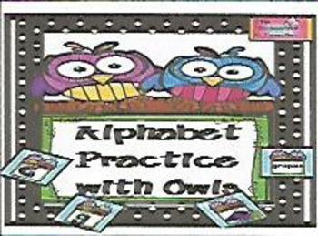 Alphabet Practice With Owls
