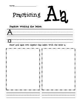 Alphabet Practice Workbook