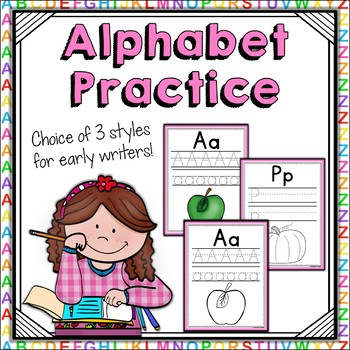 Alphabet Practice Workbook Print {UK Teaching Resource}