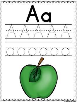 Alphabet Practice Workbook Print {UK Teaching Resource}