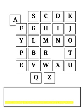 Alphabet Practice Worksheet for Computer