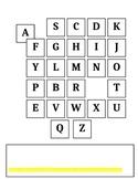 Alphabet Practice Worksheet for Computer