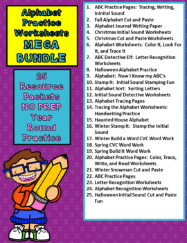 Alphabet Practice Worksheets MEGA BUNDLE