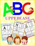 Alphabet Practice Worksheets (Uppercase) - No Prep
