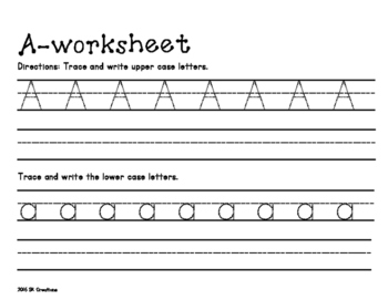 Alphabet Practice Writing (Upper and Lower Case)